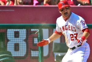 Mike Trout is scheduled to play in his first full season in 2013.Photo from Bleacher Report.