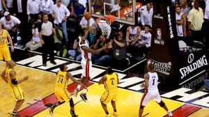 LeBron James' game-winning layup ended one of the best games we've seen in these 2013 Playoffs. Photo from ESPN.com
