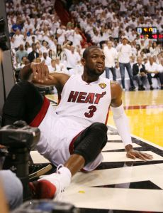 Will Dwyane Wade find himself on the bench for a larger portion of Game 7? Photo from Palm Beach Post